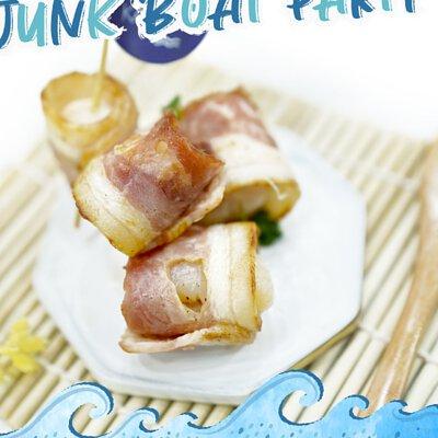 一口煙肉荔枝卷|適合16-18人享用的Junk Boat Party Set|船P船河派對|多人到會外賣套餐|Kamadelivery