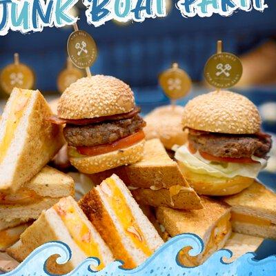 迷你美式漢堡包|適合16-18人享用的Junk Boat Party Set|船P船河派對|多人到會外賣套餐|Kamadelivery