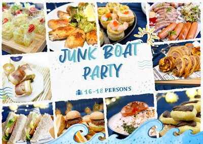 西貢到會推介 Junk Boat Party Set 食物份量適合16-18人的船P/船河到會派對享用