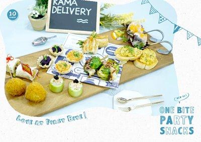 一口派對小食到會套餐|婚宴酒會、百日宴、企業簡介會|Kama Delivery美食到會外賣服務