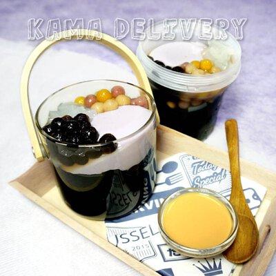 手工綜合仙草凍|單點到會甜品|Kama Delivery