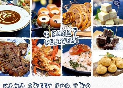 Kama Sweet for TWO 到會外賣套餐食物份量適合雙人享用,套餐包括餐湯、小食、主菜及甜品。