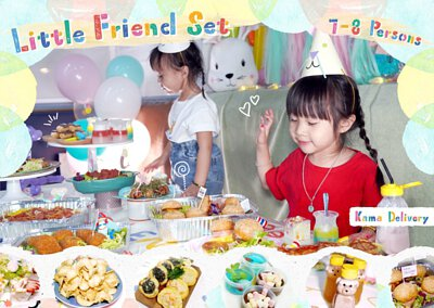 小朋友到會.推介首選|賣相一流的Little Friend Set適合在小朋友生日會、聚會、慶祝活動等場合享用,套餐包括各款小食、主菜及甜品,現即訂購並享有免運費優惠!