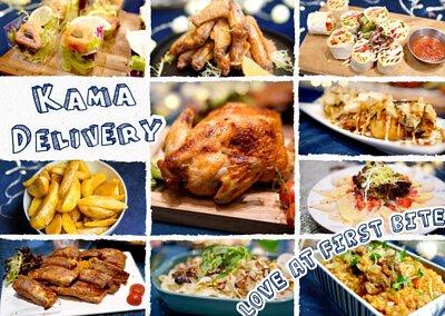 Kama Delivery提供豐富到會菜單,包括有單點沙律、小食、主菜、甜品等食品。