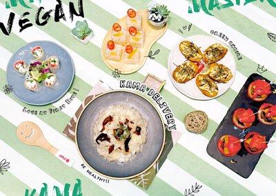 Kama Delivery到會速遞餐牌|網上瀏覽各種冷盤小食、主菜、海鮮、肉類等外賣美食價錢及份量。