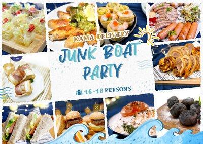 船p外賣推介|Kamadelivery推出的Junk Boat Party Set 食物份量適合16-18人的船P/船河到會派對享用,並可按需要調整食物份量及種類。
