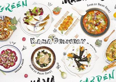 素食聖誕餐外賣|Kama Delivery炮製各款純素沙律、小食、主菜、甜品等等,歡迎於聖誕節期間訂購!