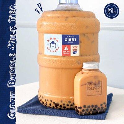 精選加購品|【特大容量】桶裝珍珠奶茶(5公升)