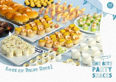 94人外賣套餐訂購|Kama Delivery炮製的一口派對小食Set適合在私人婚禮、晚會、百日宴、下午茶會、座談會、店舖開張、演講會、企業簡介會、公司講座、辦公室會議、慶功宴、員工午膳等場合享用。