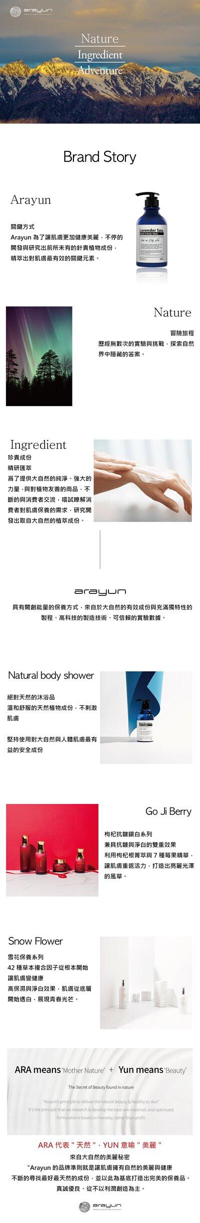 arayun品牌故事