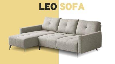里昂L型沙發