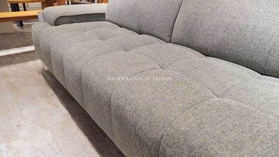 雙功能L型沙發椅腳離地15公分