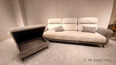 尼可沙發腳椅附有超大收納空間