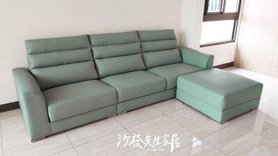 淺綠色沙發清新明亮,顏色不會太沉重也不過於鮮豔逼人