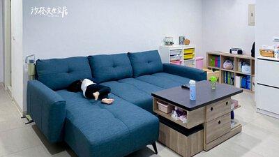 里昂沙發一樣有離地15公分的暖心設計
