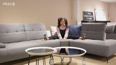雙功能沙發坐感彈性有支撐力,而且也能在沙發上拉筋舒展一下呢!