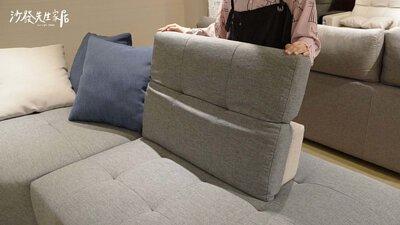 雙功能沙發頭枕可以進行五段式調整