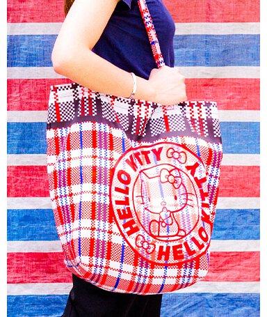 HELLO KITTY 復刻版紅白藍環保袋
