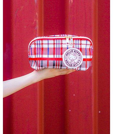 HELLO KITTY 復刻版紅白藍化妝袋