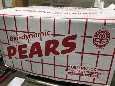 Organic Pear Packham from Australia 澳洲有機啤梨