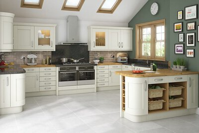 Try open shelves instead of upper cabinets for an airy feel. Just make sure you don't clutter them
