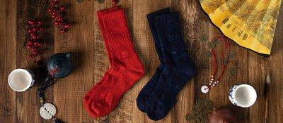 意象的中華傳統元素與現代立體織襪結合。