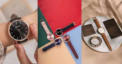 皮革錶帶材質的手錶