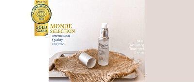 2020 Monde Selection Gold Award 歐洲世界品質評鑑大賞 榮獲金牌 碧優娜 海洋胚顏肌活修護精華 TPF Skin Activating Treatment Serum