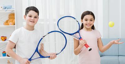 在家打網球