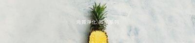 金黃陽光果實色的旺來鳳梨,比蘋果多5倍的維生素C營養素,加上豐富的蛋白質分解酵素(酶),能幫助肌膚表層的角質蛋白軟化代謝,讓肌膚柔嫩細緻。