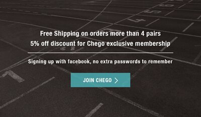 Join CHEGO Sports Socks' Membership to receive discounts