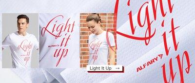 """Alfary """"Light It Up"""" T-shirt"""