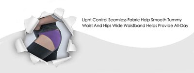 Light Control Seamless Fabric Help Smooth Tummy Waist And Hips Wide Waistband Helps Provide All-Day