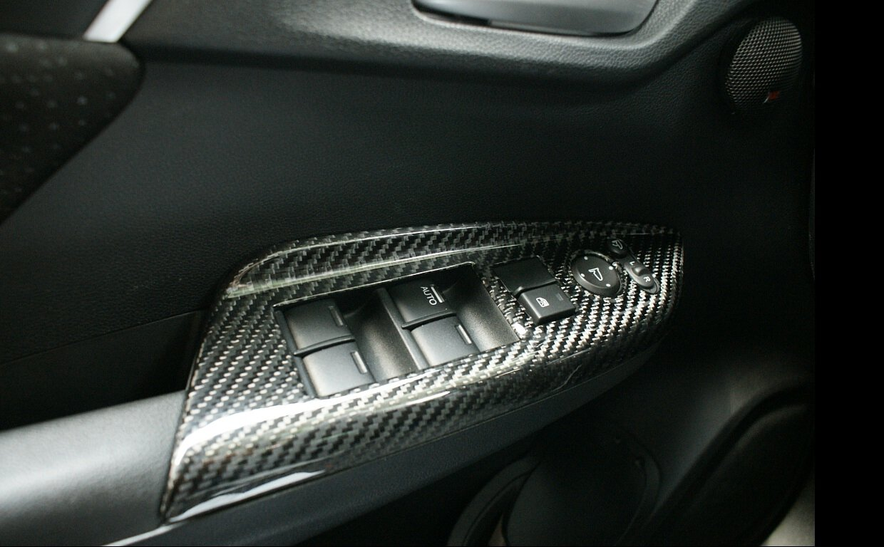 MOS Carbon Fiber Power Seat Adjustment Panel Covers for Mercedes-Benz W204