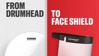 D'Addario,Evans G2鼓皮製作防護面罩,防護面罩,COVID-19