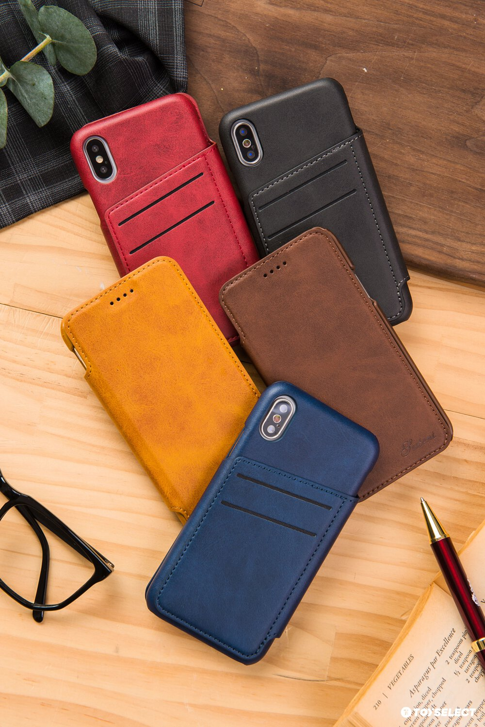 Tys Shell Leather Card Holder Iphone