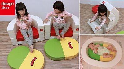 design skin圓形蛋糕沙發,兒童沙發,雙胞胎DoRe