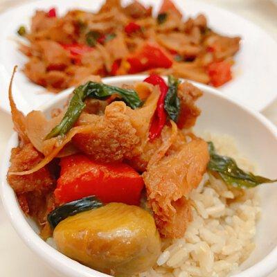 蔬味平生 蔬福漢堡排 三杯猴頭菇 全素即食料理包