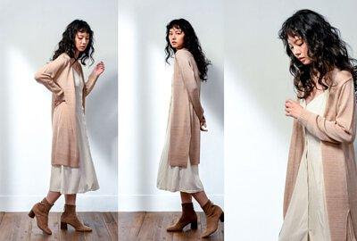 MIT女裝針織外套長版設計-粉色|O-LIWAY 穿搭首選
