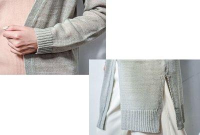 MIT長版針織外套門襟邊帶設計|O-LIWAY 穿搭首選