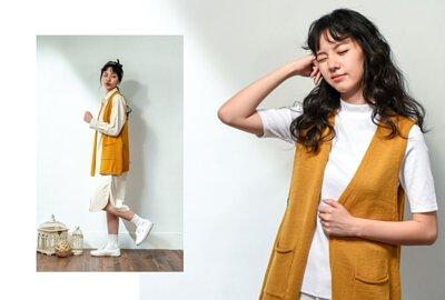 針織背心開襟設計台灣製女裝品牌服飾