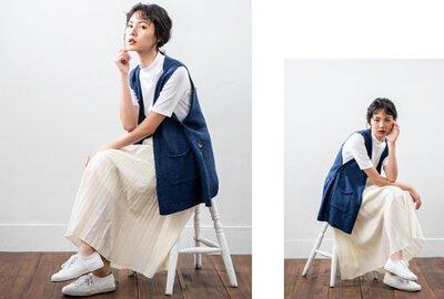 開襟針織背心雙口袋設計|O-LIWAY 穿搭首選
