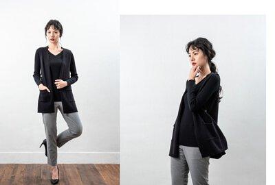 MIT女裝針織背心-黑色