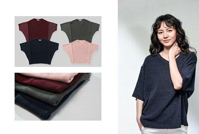 MIT女裝寬版蝴蝶袖針織上衣-oversize