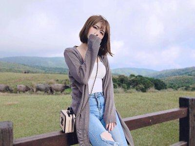 台灣製長版針織外套