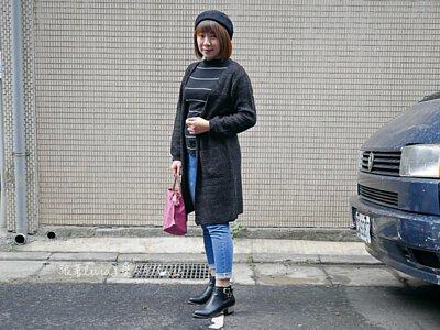 黑灰色針織外套