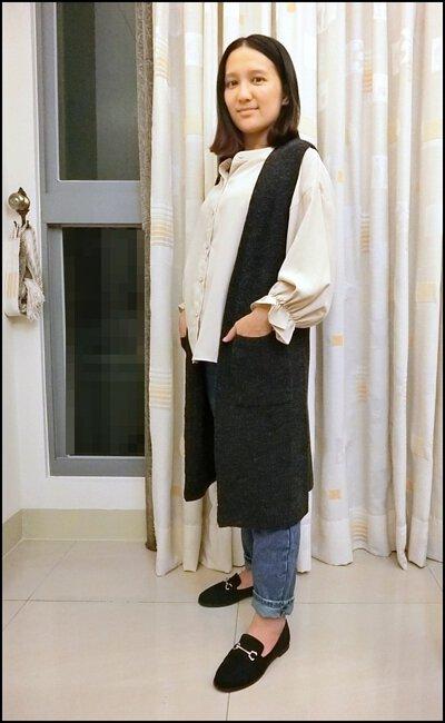 長版針織背心-產後顯瘦穿搭