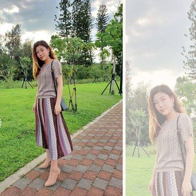 簍空設計的針織衫搭配波希米亞風的長裙