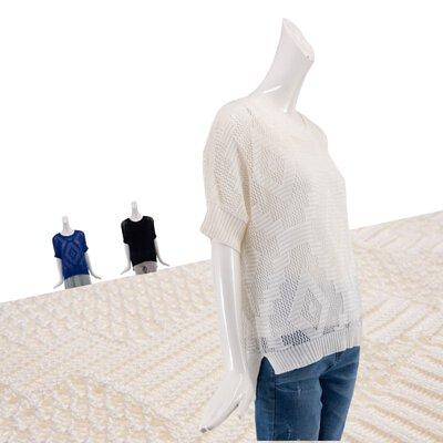 寬版針織罩衫