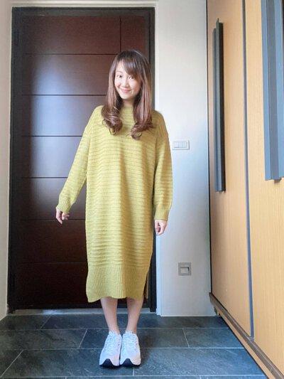 寬版針織洋裝